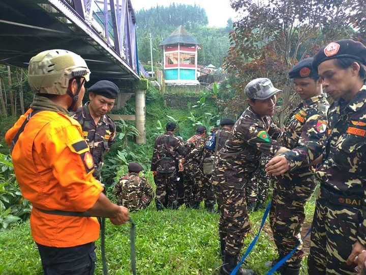 Siaga Bencana, Banser Bojong Gelar Praktik Assessment, GP Ansor