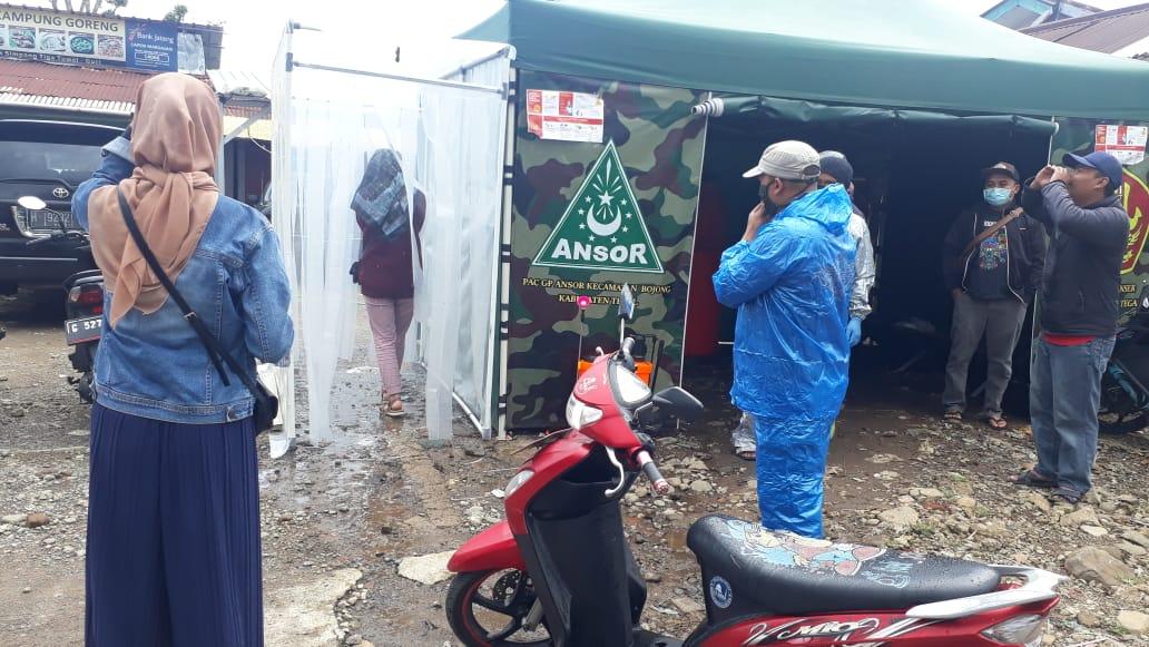 Cegah Covid-19, Ansor Banser Bojong Tegal Dirikan Posko Screening bagi Warga Perantau, GP Ansor