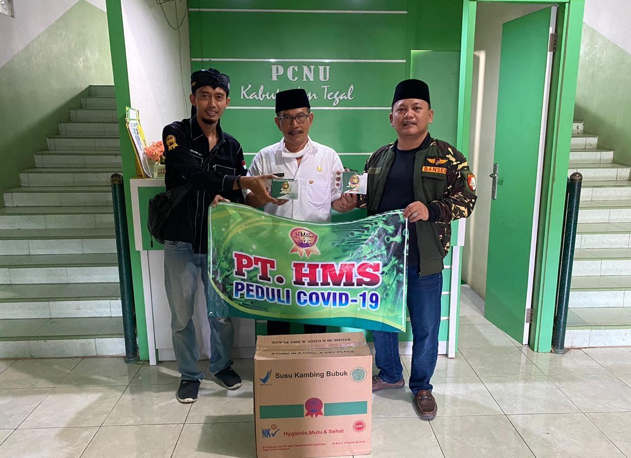 GP Ansor Terima Bantuan 300 Box Susu Bubuk Etawa dari PT HMS, GP Ansor