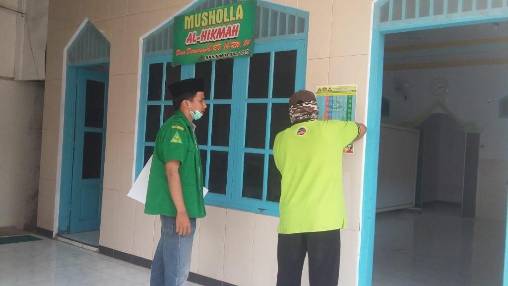 Pandemi Corona, Ansor Dermasandi Gencarkan Edukasi Warga Melalui Pengeras Suara dan Poster, GP Ansor