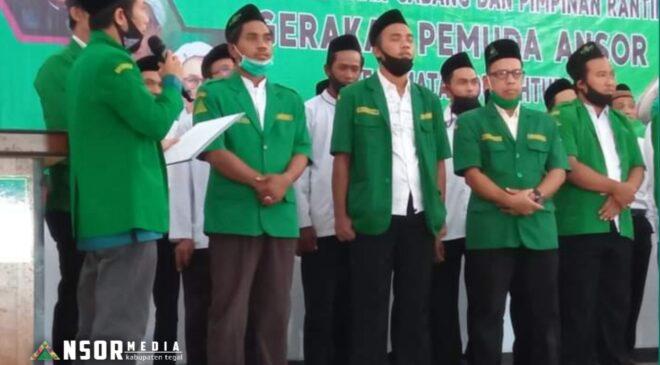 Pengurus PAC dan Ranting GP Ansor se Kecamatan Dukuhturi dilantik, GP Ansor