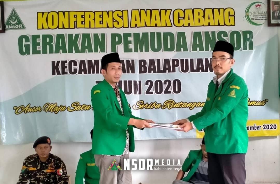 Aklamasi, ATR Fauzan Pimpin Ansor Balapulang Masa Khidmat 2020-2022, GP Ansor