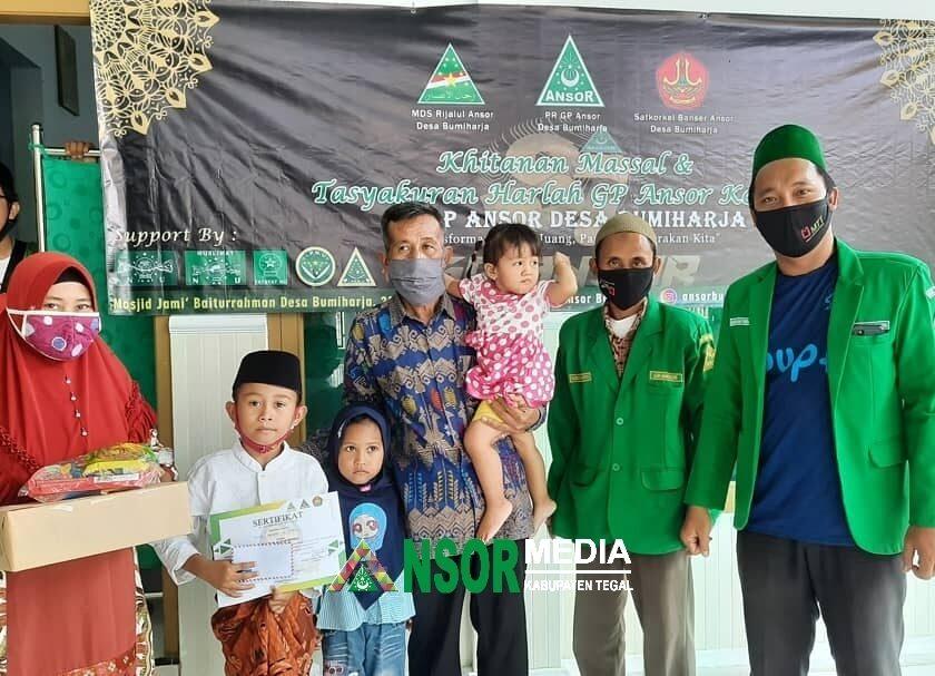 Ramadhan Bahagia, Ansor Bumiharja Tarub Gelar Khitanan Massal, GP Ansor
