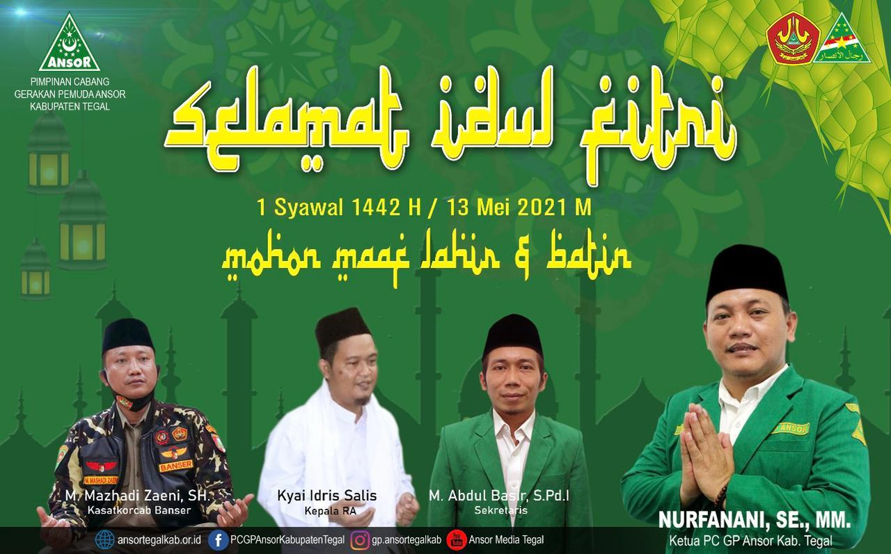 Selamat Idul Fitri 1442 Hijriah, GP Ansor