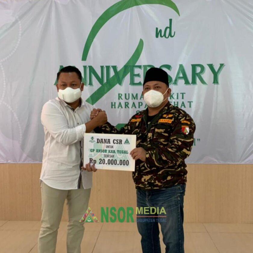 GP Ansor Terima Bantuan CSR dari RS Harapan Sehat Slawi, GP Ansor