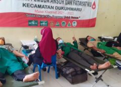 Hari Santri 2021, Ansor Dukuhwaru Bareng Fatayat NU Galang Aksi Donor Darah Sukarela