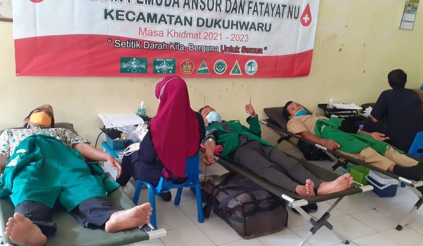 Hari Santri 2021, Ansor Dukuhwaru Bareng Fatayat NU Galang Aksi Donor Darah Sukarela, GP Ansor